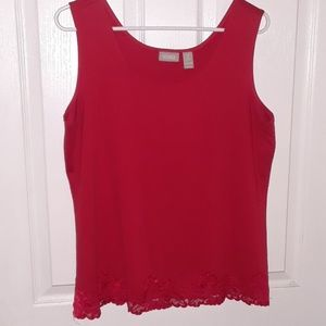 CHICOS size 2 red tank top